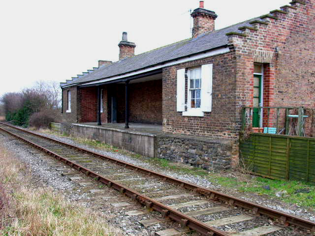 Disused station at Crakehall