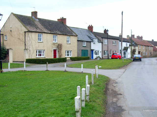Village green and street, Crakehall, south end