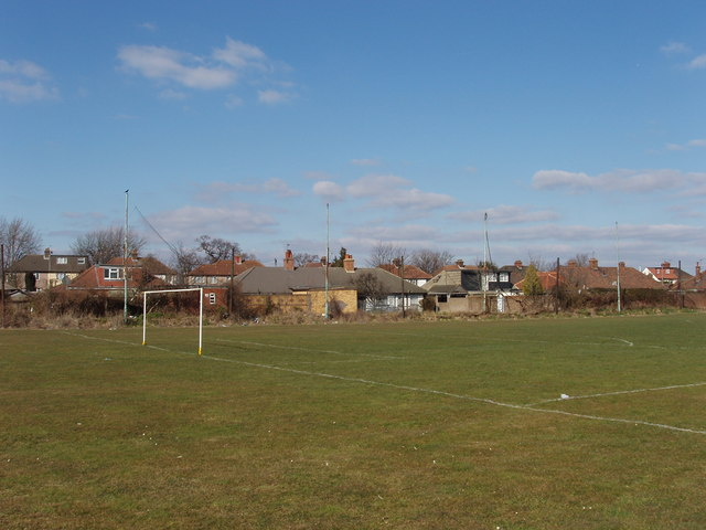Football pitch by railway goods yard, North Acton