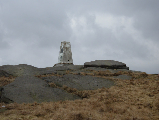 Trig Pillar on  Broadstone Hill, 454m