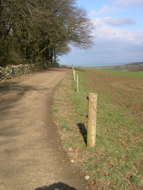 A Farm Road, on Mynydd Cefnamwlch.