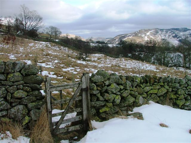 Stile on Footpath Below Cuddy Crag