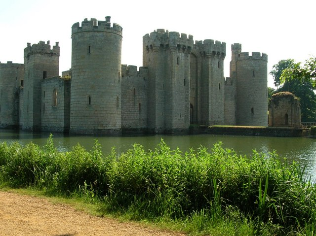 A view from the back of Bodiam Castle