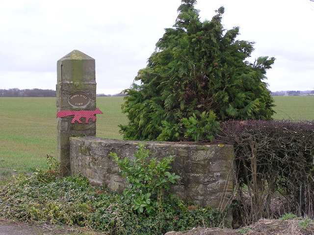 Dobbs Hall Farm : Gatepost