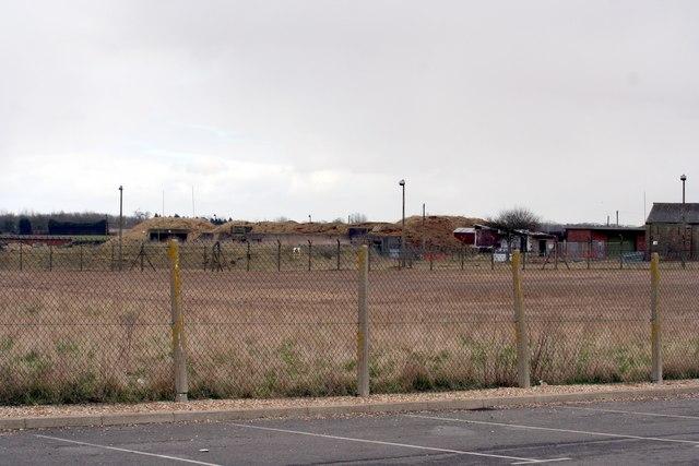 The old Nuclear bomb dump at RAF Waddington