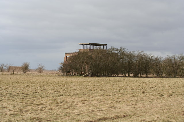 The former control tower at RAF Coleby Grange
