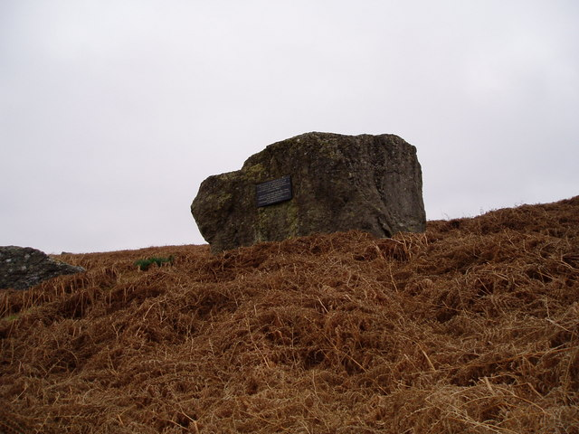 Boulder on Garth Goch