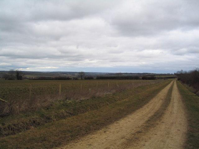 Ridge track to Ridlington