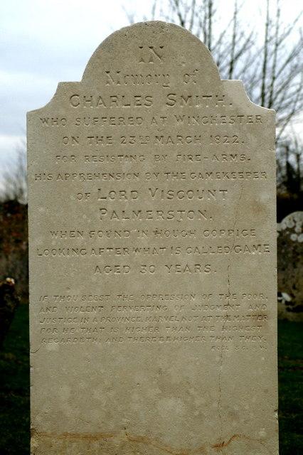 Memorial for a hanged man, North Baddesley