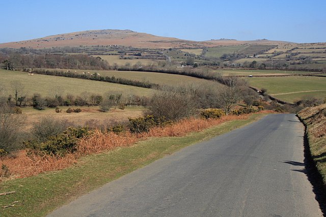 View from Whitchurch Down - The Road to Coxtor