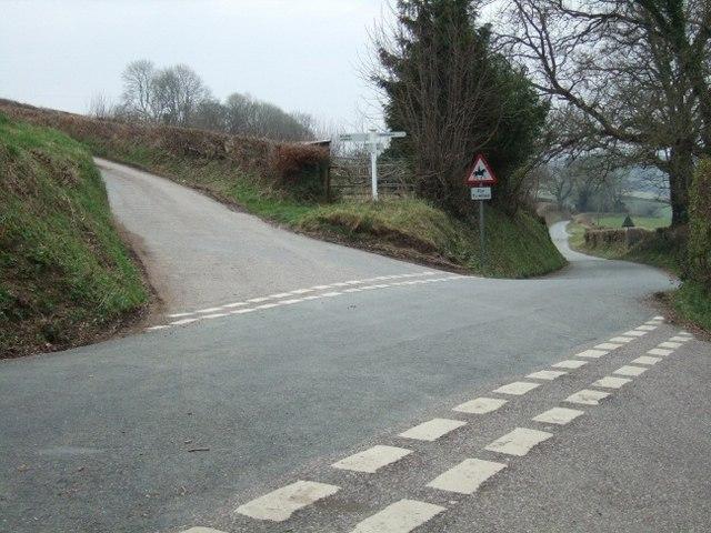 Crossroads near Willesleigh Farm