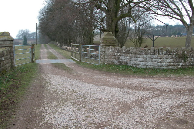 Entrance to The Northgates, near Garway