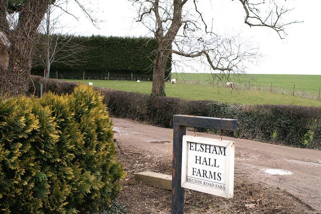 Entrance to Melton Road Farm