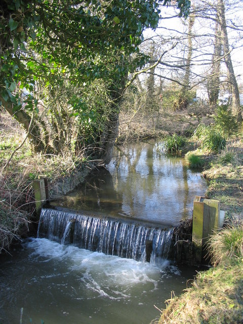 Weir on a tributary of the River Stour