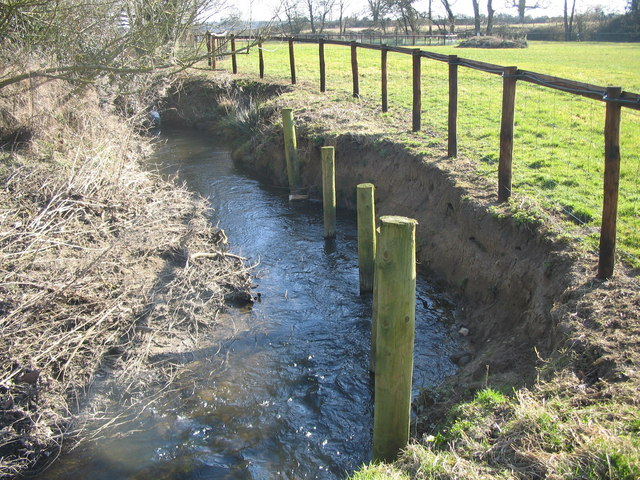 Riverbank erosion on the River Stour