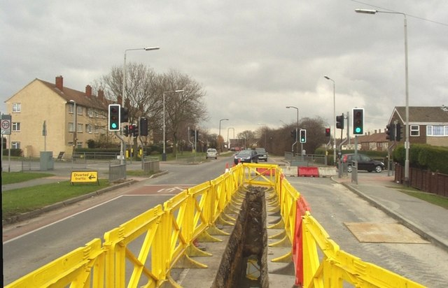 Roadworks on Barwick Road