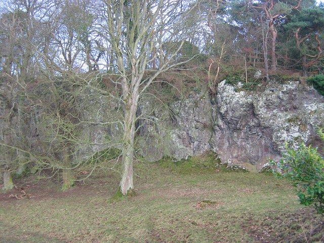 Crag, near Sherriff Hall.