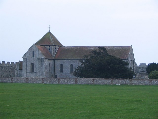 St.Mary's Church within Portchester Castle's walls