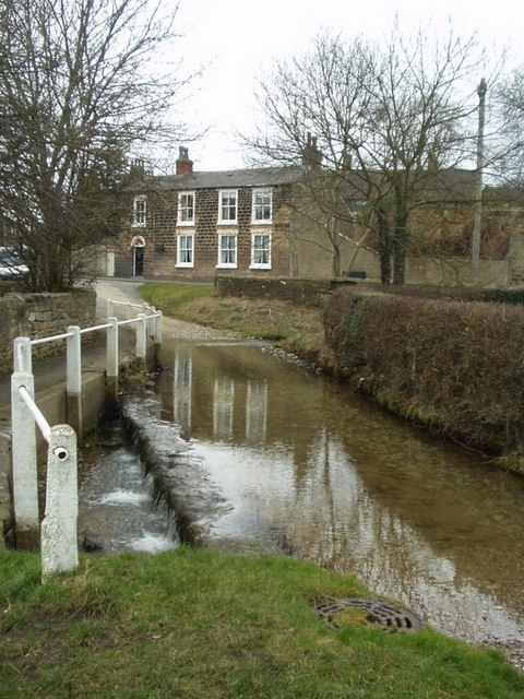 Ford and weir, Westfield Lane, Thorner