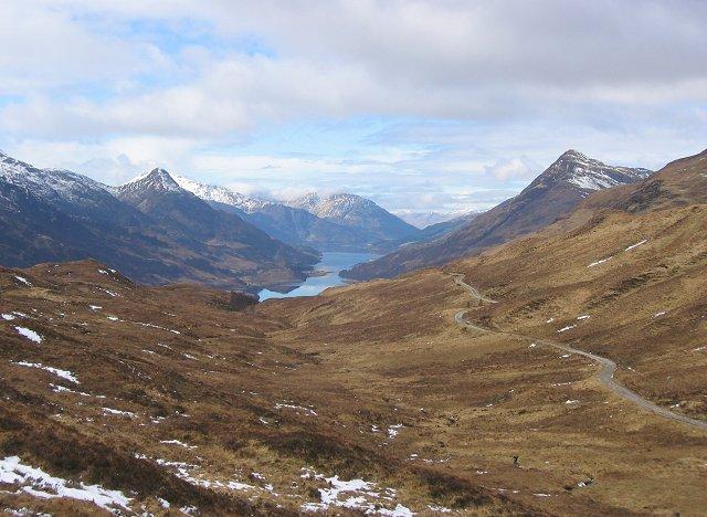 The Loch Eilde road.