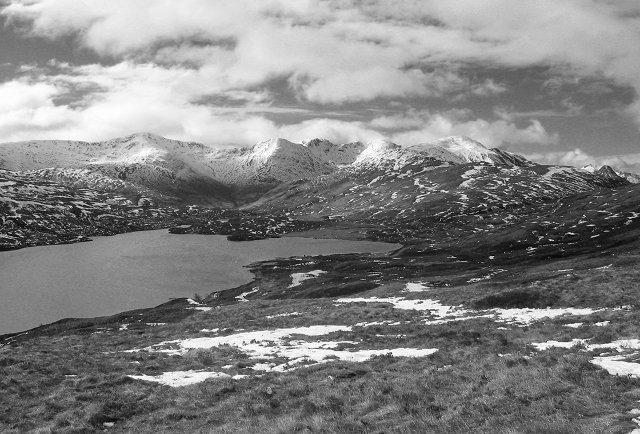 Looking south across Loch Eilde Mor - Winter