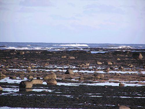 Seaworn sandstone stones