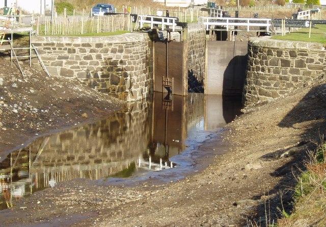 Lock on Crinan Canal