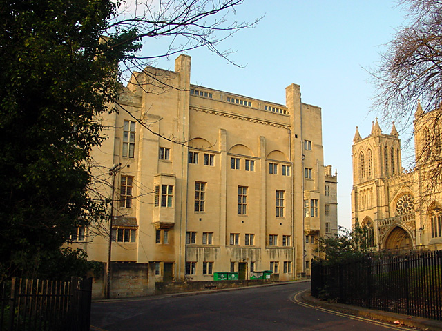 Back of Bristol Central Library