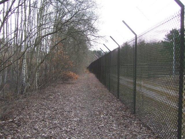 Footpath East of Longcross Station