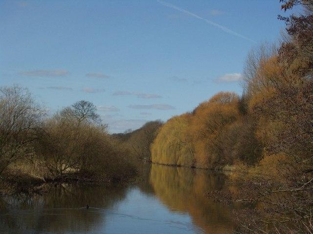 River Aire near Kirkstall Abbey