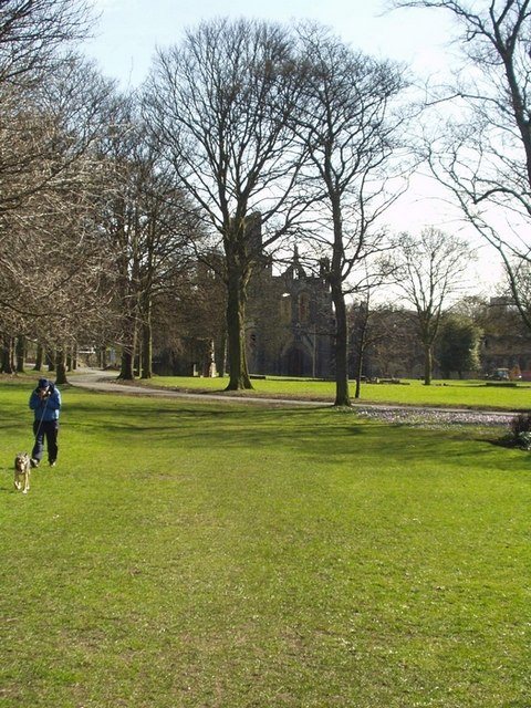 Kirkstall Abbey grounds, near the tennis courts