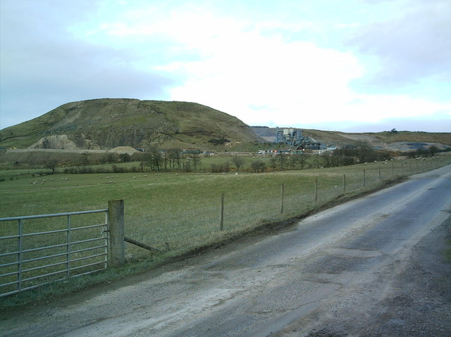 Swinlees Quarry outside Dalry
