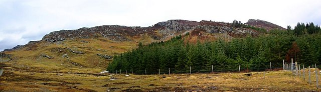 Strome Carronach forestry and An Sgurr