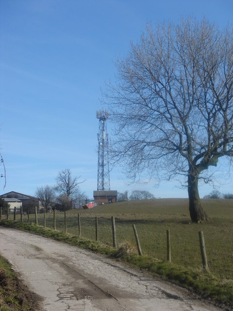 Mast near Holt Lane farm