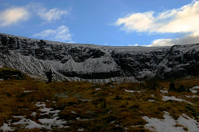 The steep crags of Coire Daimh