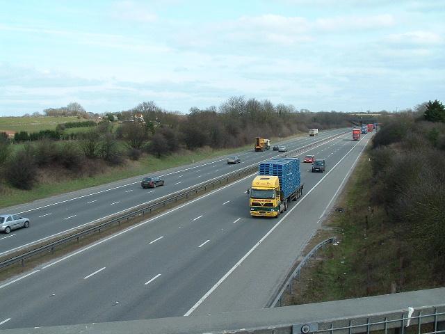 M4 looking East from footbridge
