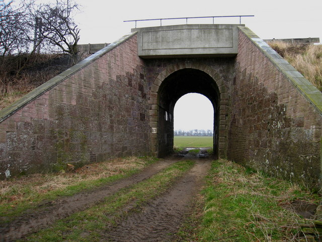 Railway bridge at Crauchie, near East Linton