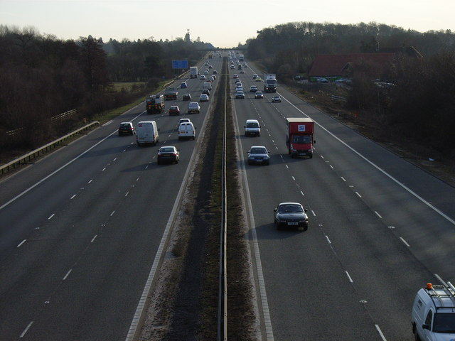 The M3, Hartley Wintney