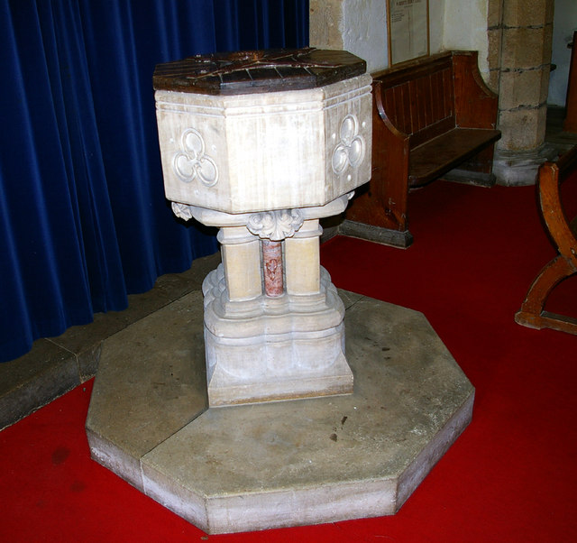 Claxby Church - Font