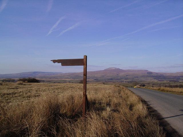Sign and Ingleborough