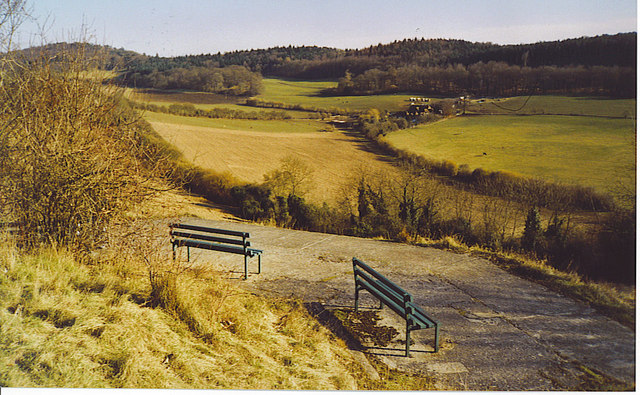 Benches on Pewley Down.