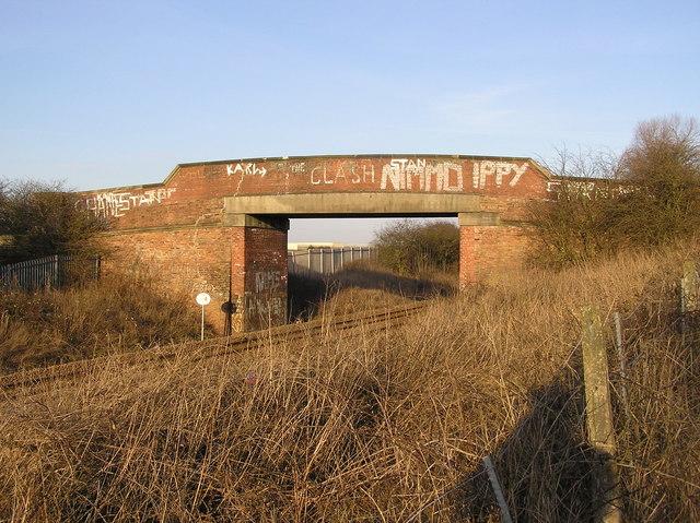 Salters Lane Railway Bridge.