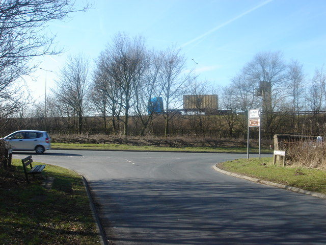 Where Shady Lane joins the A49