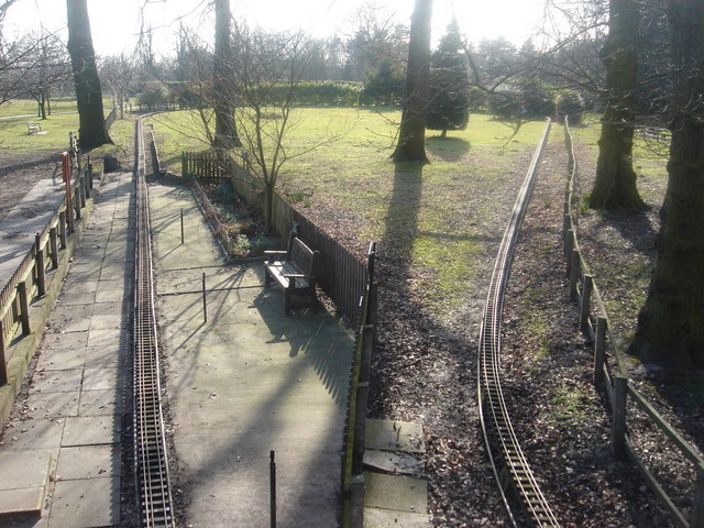 Miniature railway at Worden Hall