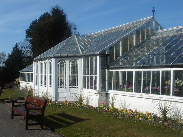Spring greenhouse at Worden Hall