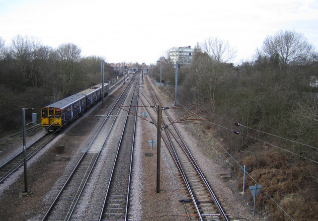 East Coast Main Line railway at Potters Bar