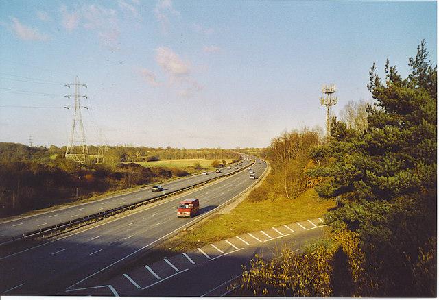 Motorway Standard A3, near Ripley.