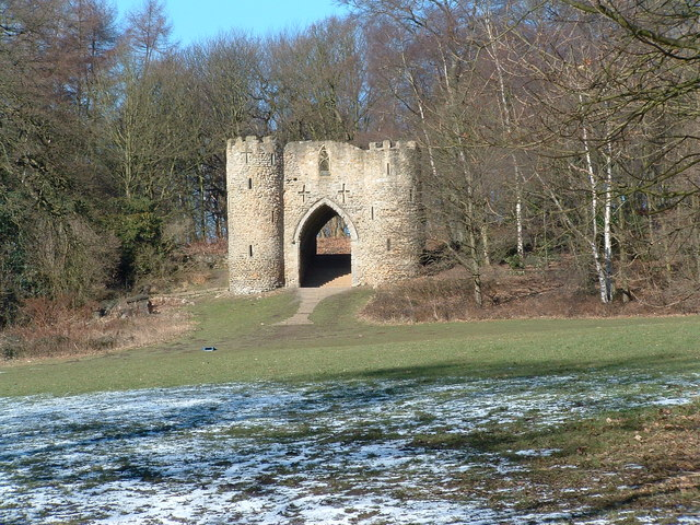 "The ""castle"" in Roundhay Park"