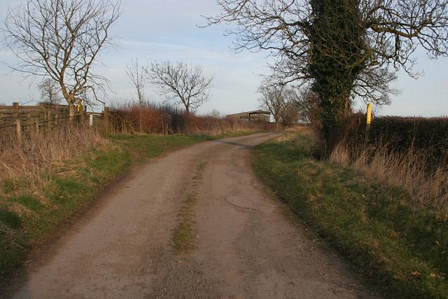 Farm Road near Syston Grange, Leicestershire