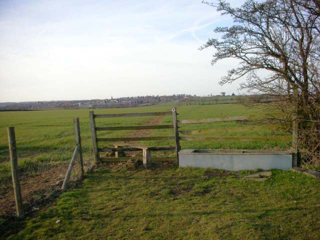 Stile and water-trough